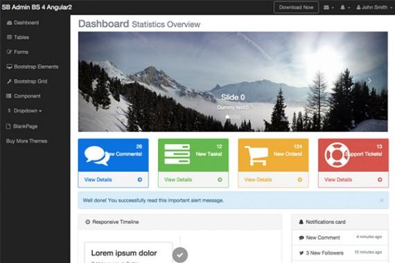SB Admin Bootstrap 4 Angular 8 | StartAngular