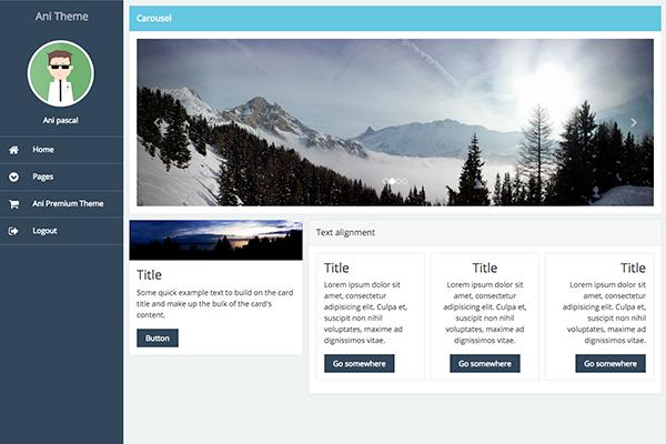 Ani Angular 2 Theme | StartAngular